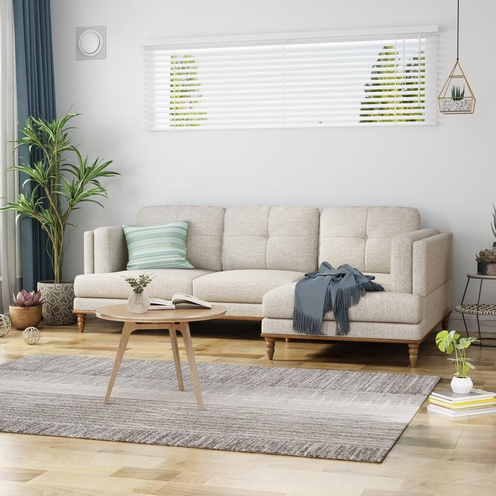sofa Loveseat Sisi Kiri dan sofa Lounge Chaise Sisi Kanan