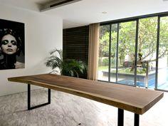 meja panjang, meja trembesi modern, model meja kayu trembesi, harga meja kayu trembesi tebal, meja antik kayu trembesi, meja kayu trembesi utuh, meja makan kayu, jual meja makan kayu trembesi bandung, meja makan kayu minimalis