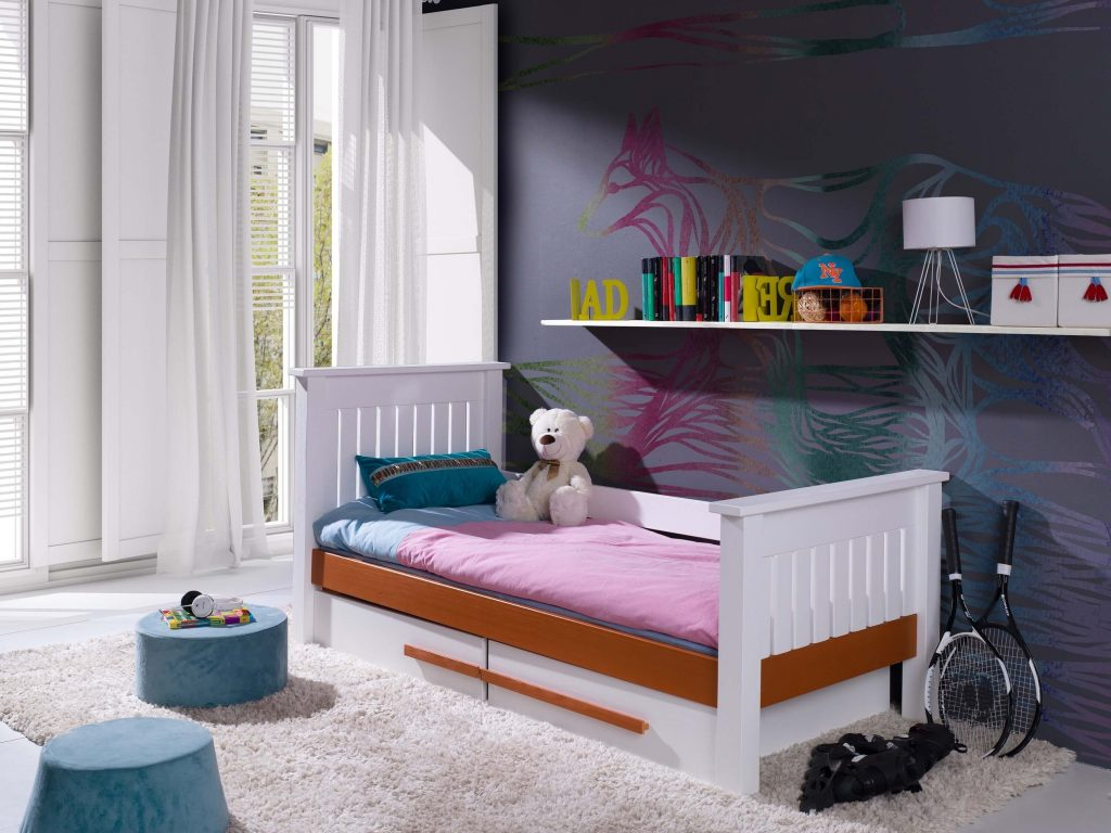 tempa tidur caren, tempat tidur anak minimalis, tempat tidur anak putih, tempat tidur anak murah, tempat tidur tunggal