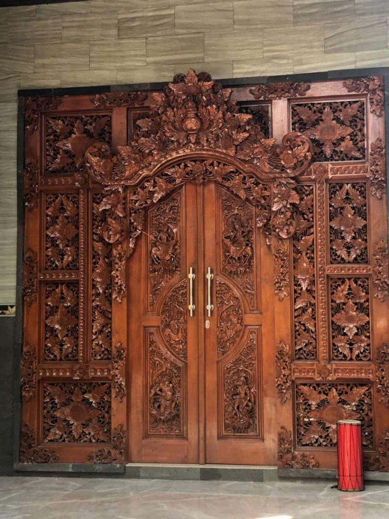 pintu gebyok, gebyok ukir, pintu jati, pintu gebyok jati