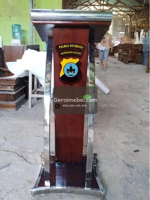 podium pidato, harga podium kayu jati, jual podium jati, jual podium minimalis