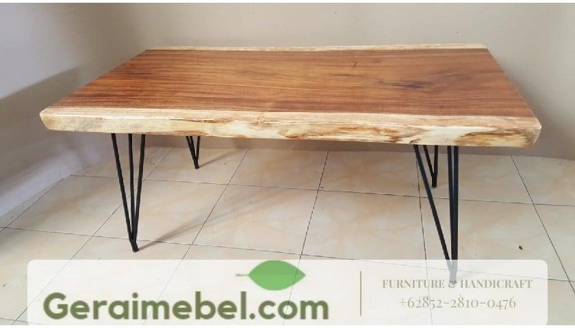 meja tamu, meja tamu kaki besi, meja resto kaki besi, meja makan lesehan, jual meja