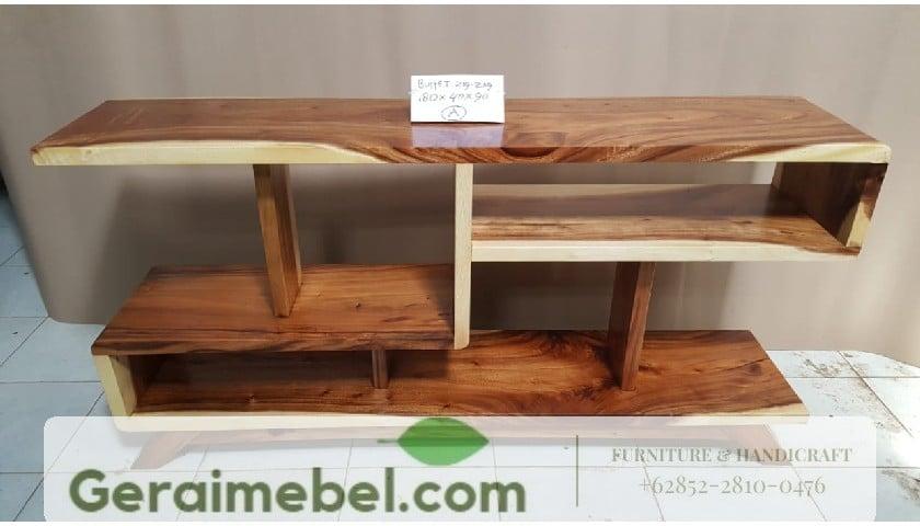 bufet minimalis kayu trembesi, bufet minmalis murah, jual bufet minimalis, bufet minimalis terbaru