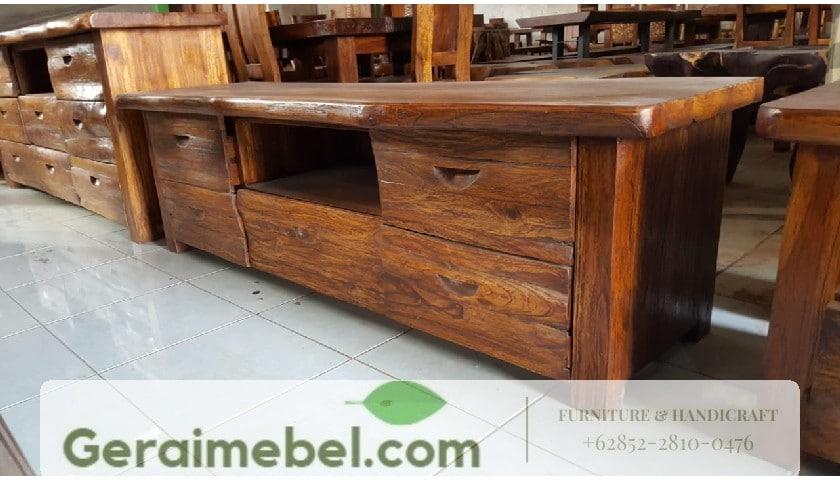 bufet rustic, bufet kayu jati, bufet warna rustic, bufet antik