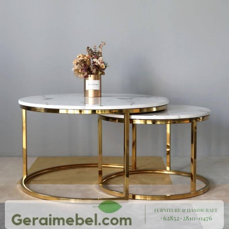 meja tamu marmer modern, meja tamu top marmer minimalis, meja tamu samping marmer, meja hias marmer