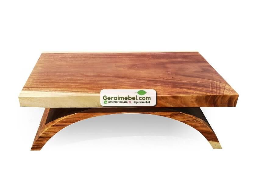 harga meja kopi, jual meja tamu, meja minimalis murah, model meja kaki lengkung