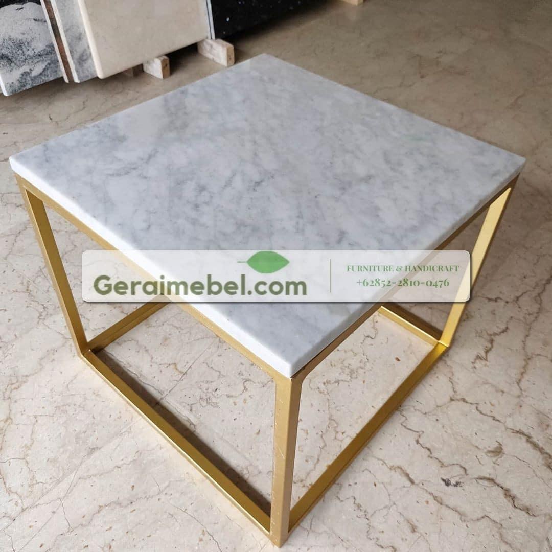meja marmer minimalis modern, meja marmer persegi, meja marmer murah, meja samping, meja tamu