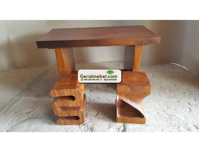 meja trenbesi minimalis, meja minimalis, meja persegi, meja kerja solid, meja kerja trembesi