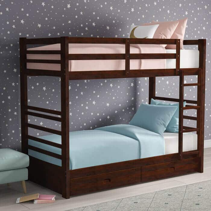 Tempat Tidur Tingkat Jati Laci