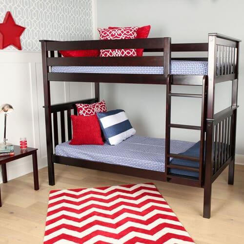 Tempat Tidur Tingkat Jati Minimalis